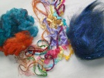 Dyed Nylon fibre, fancy yarns and Angelina fibre