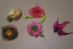 Nuno Felted Flowers