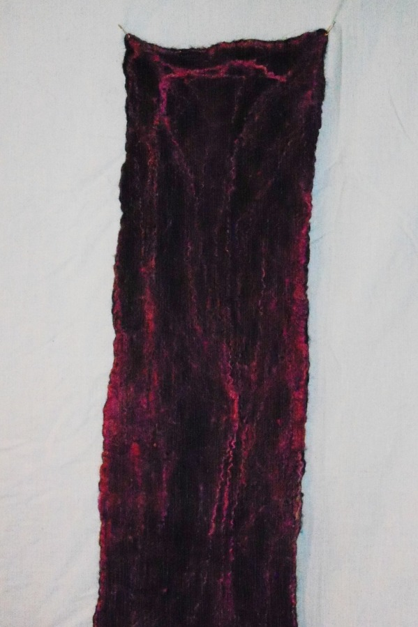 Silk hankies on blak scarf