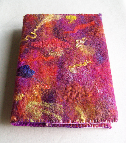 Handmade Felt Book Cover : Welcome to the felting and fiber studio