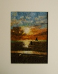 Needle Felted Sunset