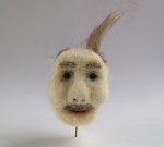 Wind swept Hair/ Needle Felted