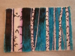 Machine Stitched and Colored Birch Trees