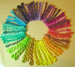 Color Wheel Of Perle Cotton Threads - hand dyed