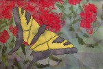 Applique and Machine Stitched Butterfly
