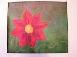 Applique and Machine Stitched Flower