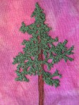 Free Motion Stitched Tamarack Tree
