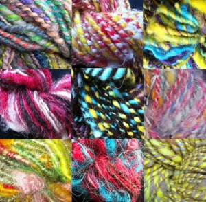 A selection of Newmoor barn Hand Spun Art Yarn