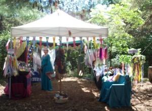 booth at medieval fair