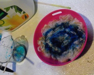 dye in bowl