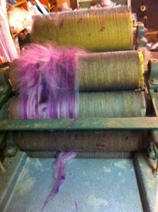 pink into the carder