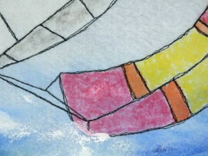 yacht spinnaker in the water - small image
