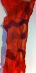orange scarf after dye