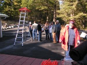 Gathering to Raise the Yurt