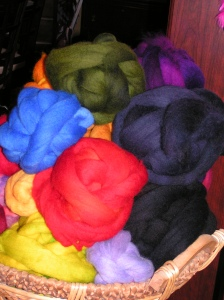 Pile of Dyed Roving