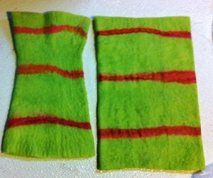 fingerless mitt green