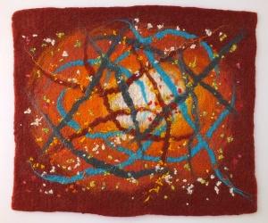 felt in the style of Jackson Pollock