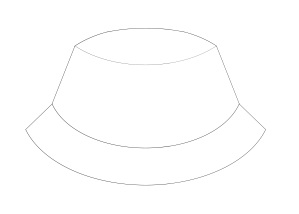 hat template actual size geometric outlines