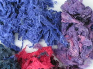 Dyed Silk Noil