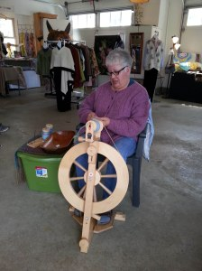 Laurie spinning
