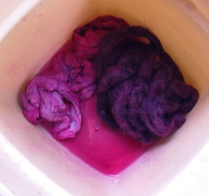 cochineal dyed stuff.