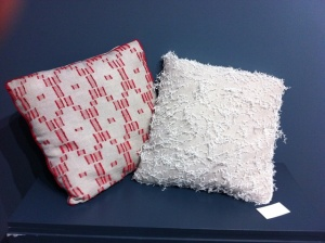 pillows from hands woven fabric