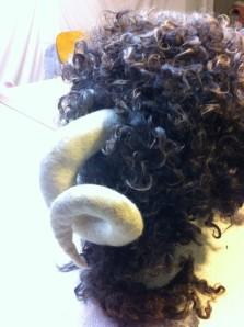 hat dry horns