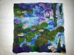 Monet 2 after felting