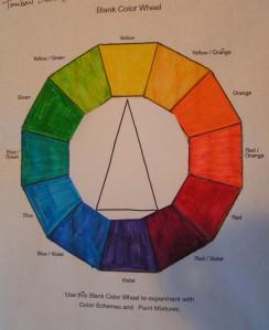 Isosceles Triad - Yellow, Red/Violet, Blue/Violet