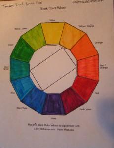 Rectangular Tetrad - Yellow/Orange, Red/Orange, Blue/Violet, Blue/Green