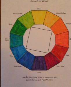 Square Tetrad - Orange, Red/Violet, Blue, Yellow/Green