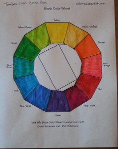 Rectangular Tetrad - Red, Violet, Green, Yellow