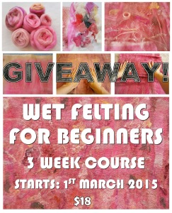 wet felting FOR BEGINNERS flyer GIVEAWAY small