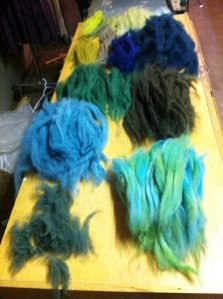 wool ready to card