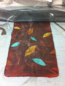 spindle bag leaf embelishments