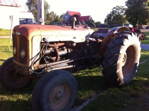new old tractor