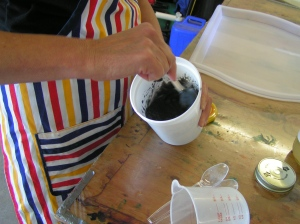 Mixing in the Iron Powder