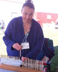 Carp Carlene and the peg loom