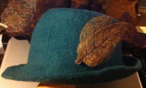 fedora with leaf