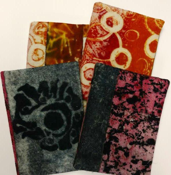 Screen Printed Felt Journals by Ruth Lane