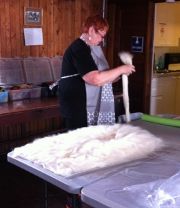 laying out wool 2