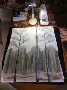 foreground trees