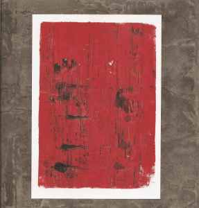 monoprint black and red