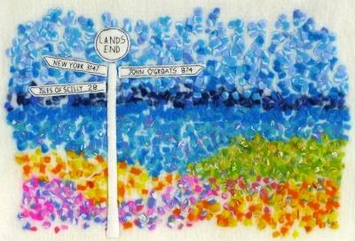 2_DSCF1053 Fingerpost Land's End Textured Felt Art