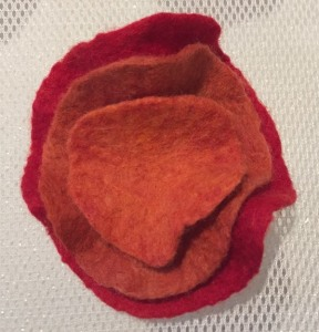 staked flower felted