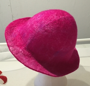 pink hat with silk 2