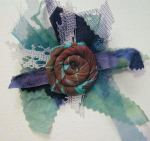 Blues Scrap Flower
