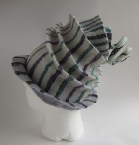 Felted Concertina Hat by Teri Berry