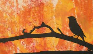 Bird with Orange Card