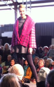 spun wool and woven garment